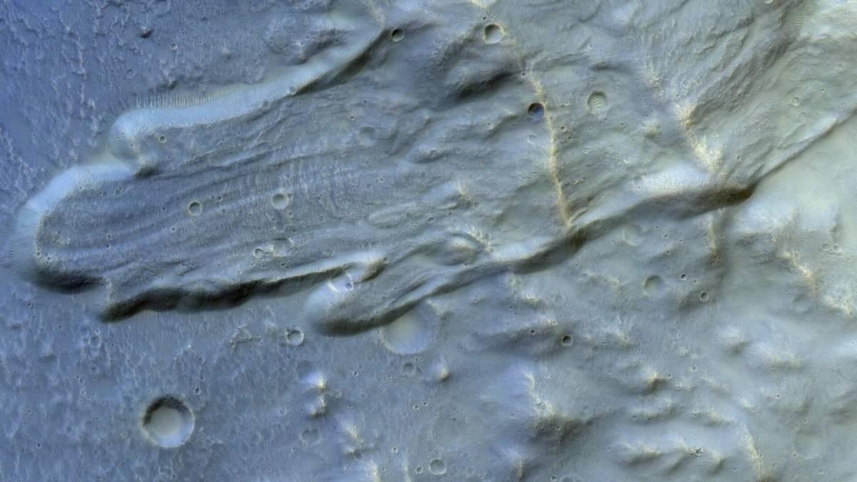 Planeta Marte alunecare teren
