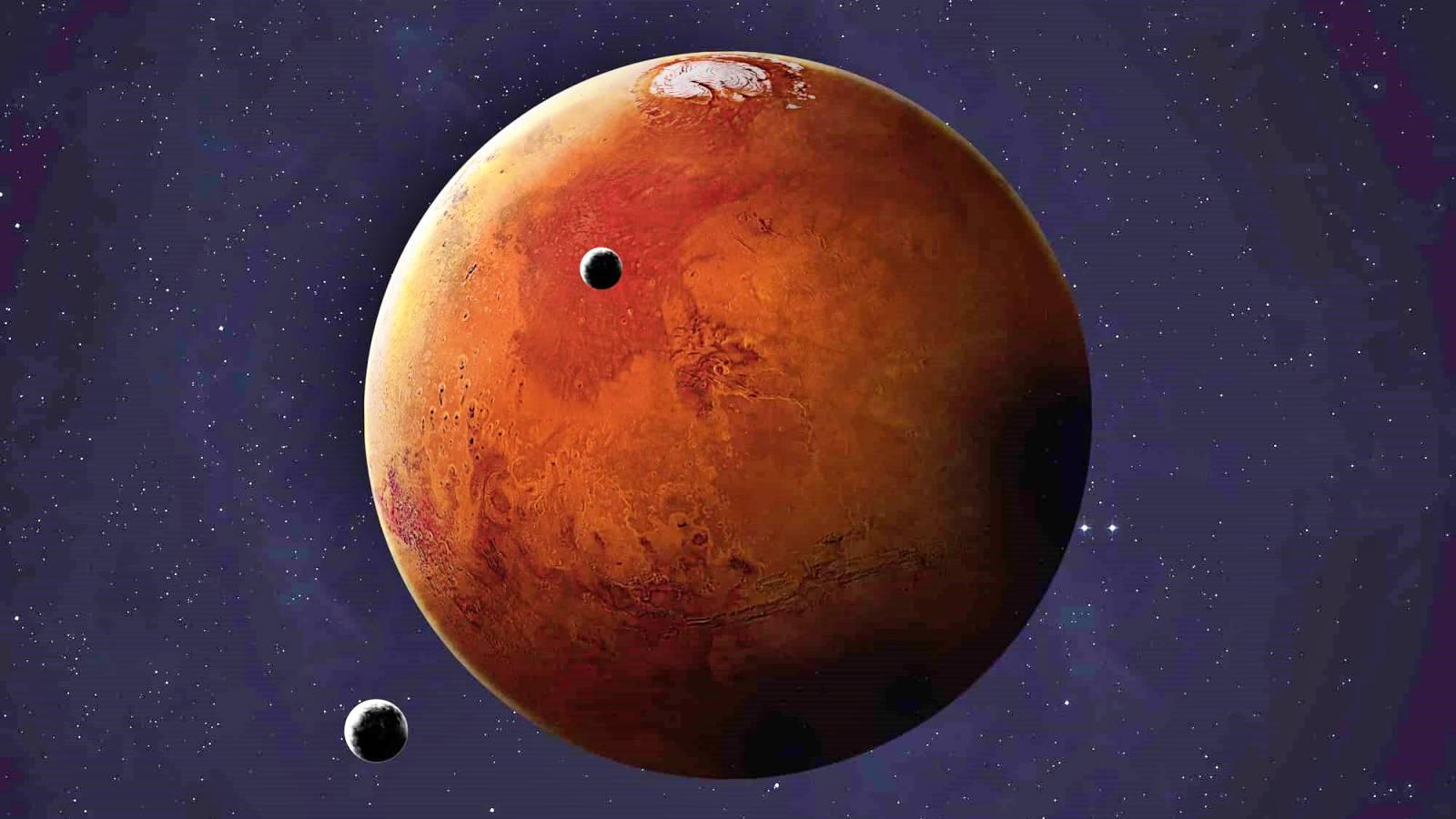 Planeta Marte alunecare
