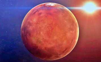 Planeta Marte orizont