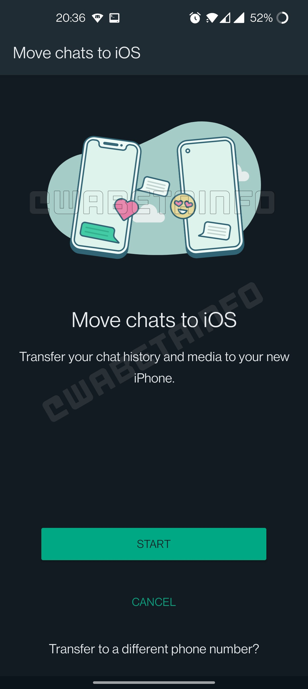WhatsApp transfer chat android iphone cablu