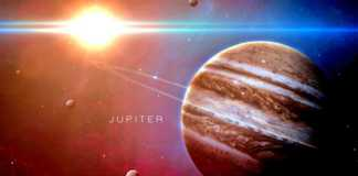 Planeta Jupiter zbor